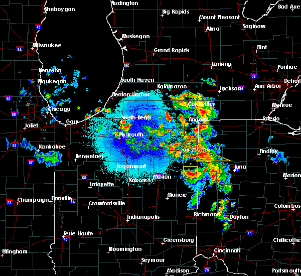 Radar Image for Severe Thunderstorms near Grover Hill, OH at 5/16/2019 10:30 PM EDT