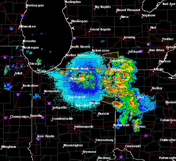 Radar Image for Severe Thunderstorms near Nappanee, IN at 5/16/2019 10:53 PM EDT