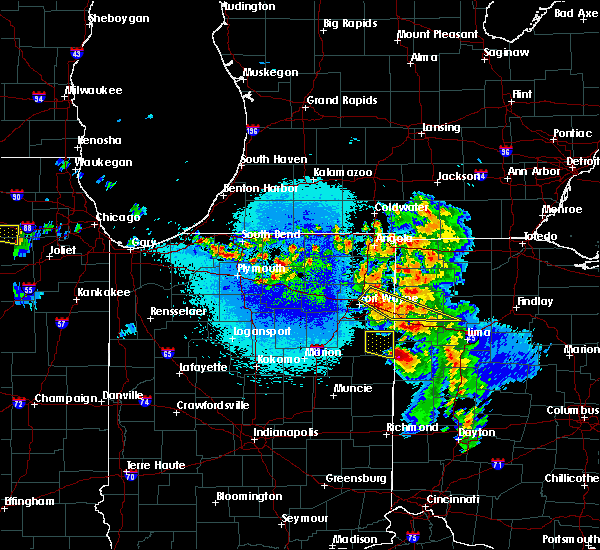 Radar Image for Severe Thunderstorms near Harlan, IN at 5/16/2019 10:57 PM EDT