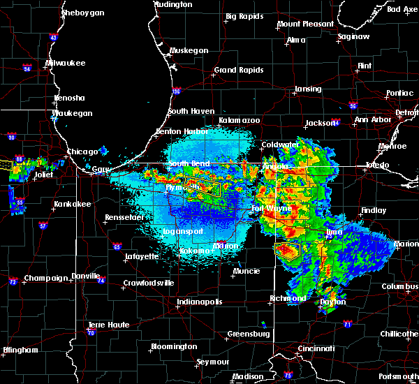 Radar Image for Severe Thunderstorms near Nappanee, IN at 5/16/2019 11:07 PM EDT
