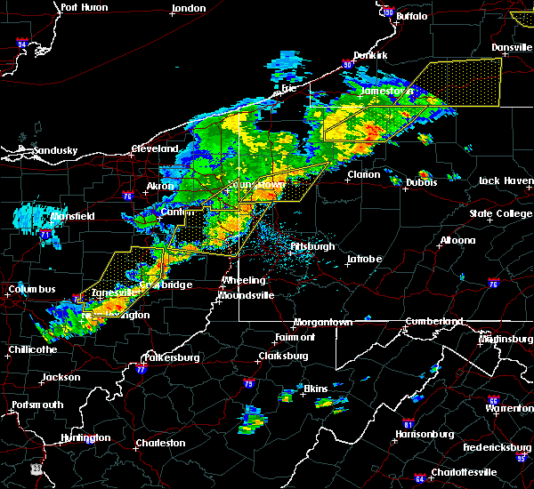 Radar Image for Severe Thunderstorms near Calcutta, OH at 6/12/2015 5:33 PM EDT