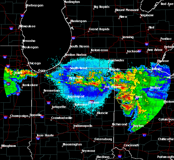 Radar Image for Severe Thunderstorms near Middle Point, OH at 5/16/2019 11:50 PM EDT