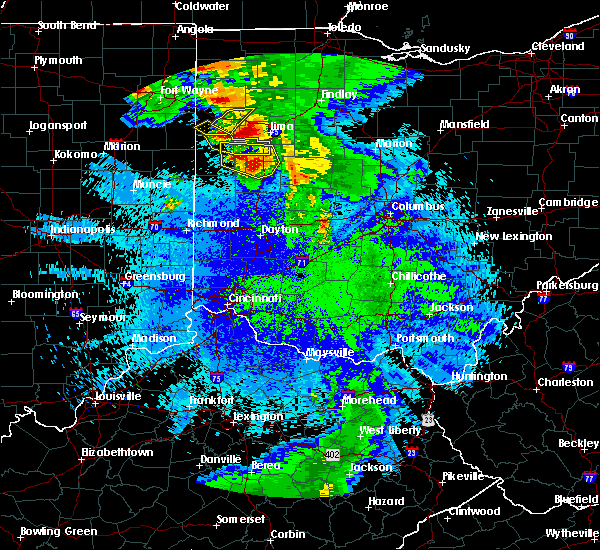 Radar Image for Severe Thunderstorms near Uniopolis, OH at 5/17/2019 12:02 AM EDT