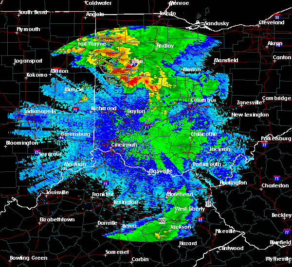 Radar Image for Severe Thunderstorms near Uniopolis, OH at 5/17/2019 12:19 AM EDT