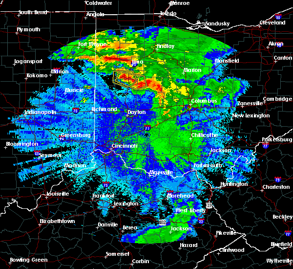 Radar Image for Severe Thunderstorms near Jackson Center, OH at 5/17/2019 12:42 AM EDT