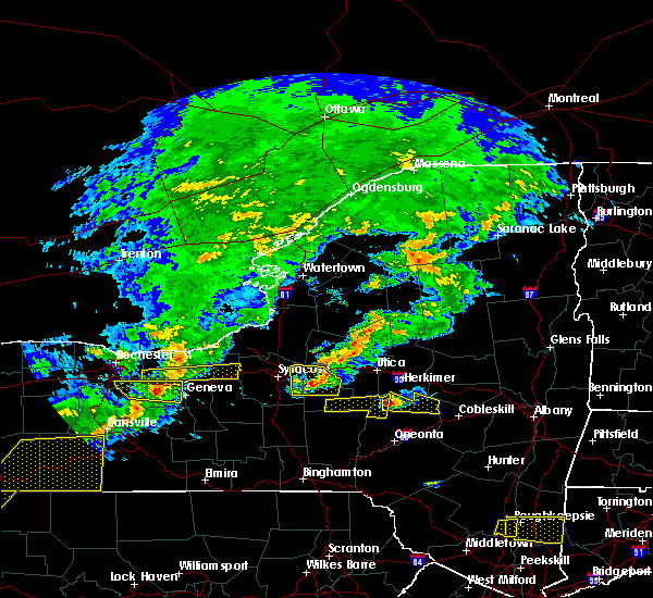 Radar Image for Severe Thunderstorms near New Hartford, NY at 6/12/2015 5:36 PM EDT
