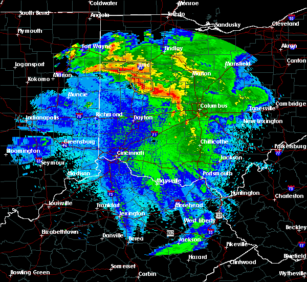 Radar Image for Severe Thunderstorms near Jackson Center, OH at 5/17/2019 1:03 AM EDT