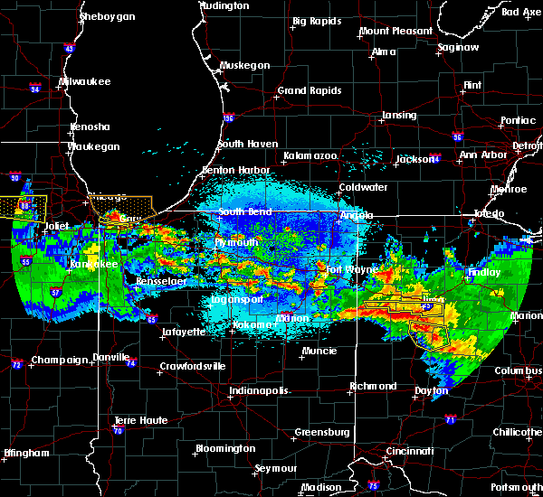 Radar Image for Severe Thunderstorms near Lima, OH at 5/17/2019 1:10 AM EDT