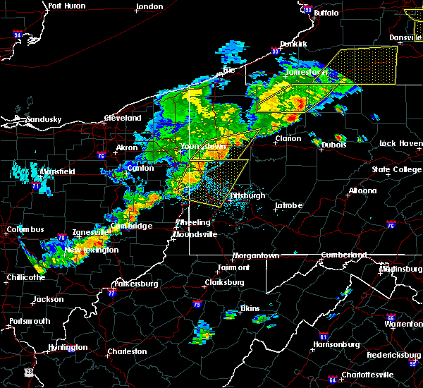Radar Image for Severe Thunderstorms near Volant, PA at 6/12/2015 5:36 PM EDT