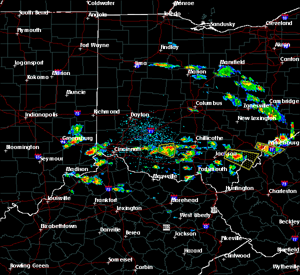 Radar Image for Severe Thunderstorms near Cincinnati, OH at 5/17/2019 4:39 PM EDT