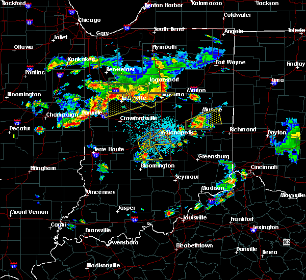Radar Image for Severe Thunderstorms near Meridian Hills, IN at 6/12/2015 5:39 PM EDT
