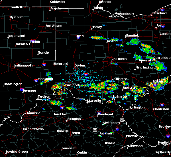 Radar Image for Severe Thunderstorms near Cincinnati, OH at 5/17/2019 4:51 PM EDT