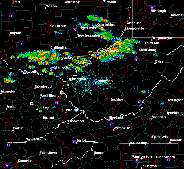Radar Image for Severe Thunderstorms near Lubeck, WV at 5/17/2019 5:01 PM EDT