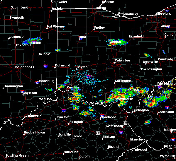 Radar Image for Severe Thunderstorms near Moscow, OH at 5/17/2019 5:43 PM EDT