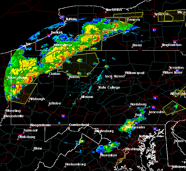 Radar Image for Severe Thunderstorms near Ridgway, PA at 6/12/2015 5:43 PM EDT
