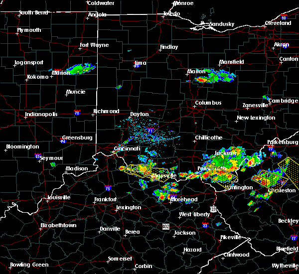 Radar Image for Severe Thunderstorms near West Union, OH at 5/17/2019 6:13 PM EDT