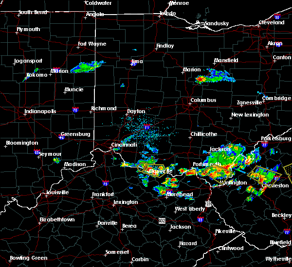 Radar Image for Severe Thunderstorms near West Union, OH at 5/17/2019 6:25 PM EDT