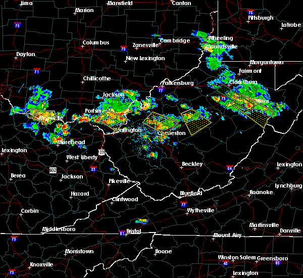 Radar Image for Severe Thunderstorms near Athalia, OH at 5/17/2019 6:26 PM EDT