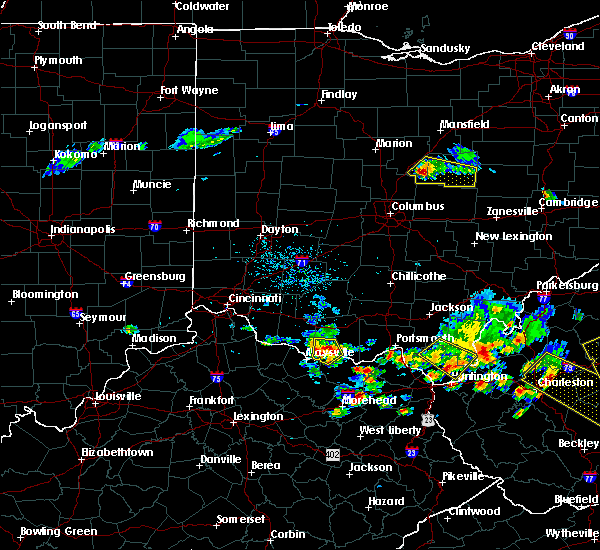 Radar Image for Severe Thunderstorms near West Union, OH at 5/17/2019 6:39 PM EDT