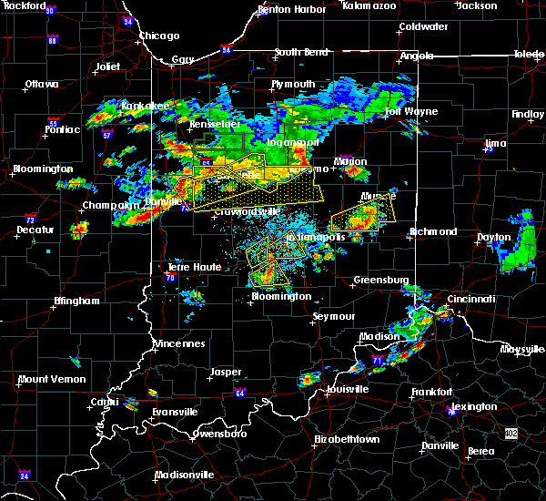 Radar Image for Severe Thunderstorms near Frankton, IN at 6/12/2015 5:46 PM EDT