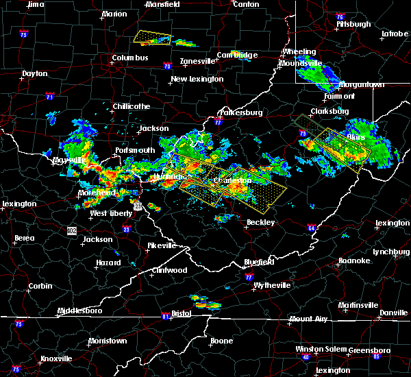 Radar Image for Severe Thunderstorms near Belle, WV at 5/17/2019 7:00 PM EDT