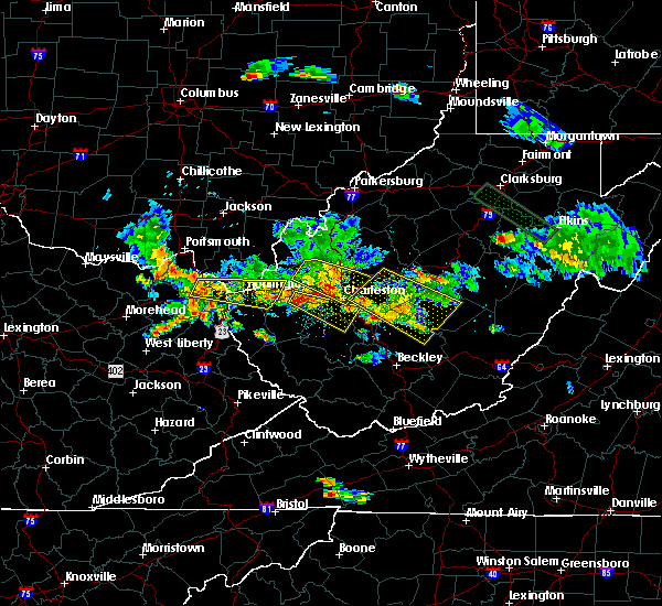 Radar Image for Severe Thunderstorms near Huntington, WV at 5/17/2019 7:16 PM EDT