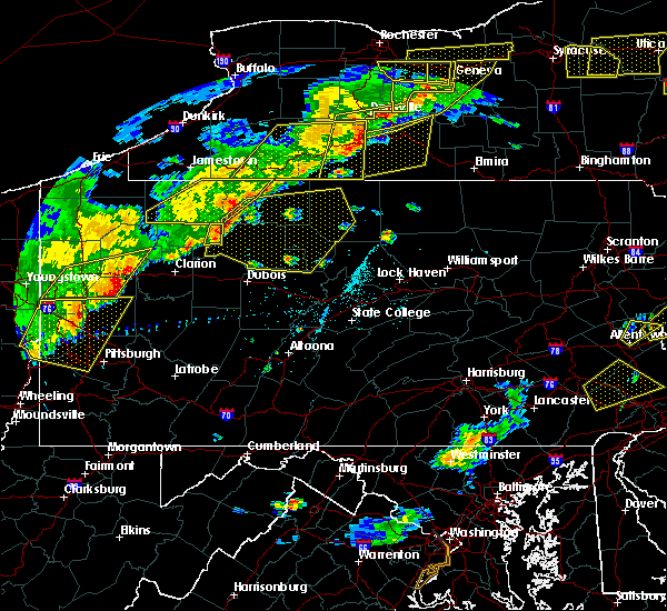 Radar Image for Severe Thunderstorms near Marienville, PA at 6/12/2015 5:47 PM EDT