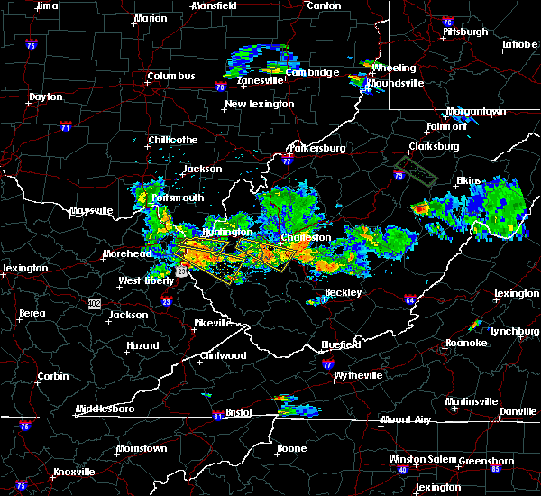 Radar Image for Severe Thunderstorms near Huntington, WV at 5/17/2019 7:47 PM EDT