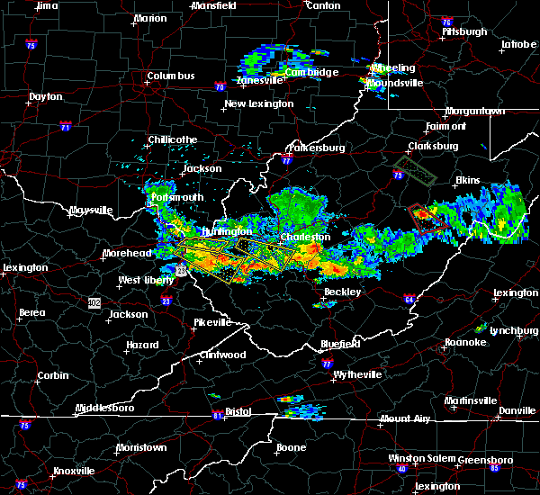 Radar Image for Severe Thunderstorms near Huntington, WV at 5/17/2019 7:57 PM EDT