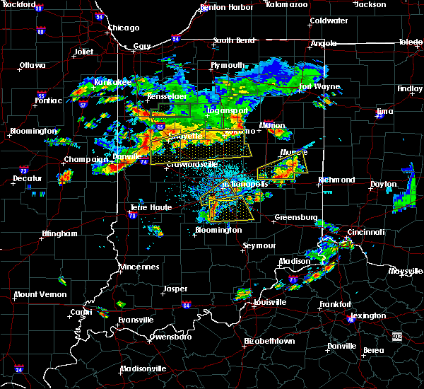 Radar Image for Severe Thunderstorms near Trafalgar, IN at 6/12/2015 5:50 PM EDT