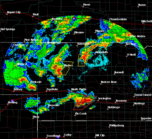 Radar Image for Severe Thunderstorms near Cozad, NE at 5/17/2019 7:09 PM CDT