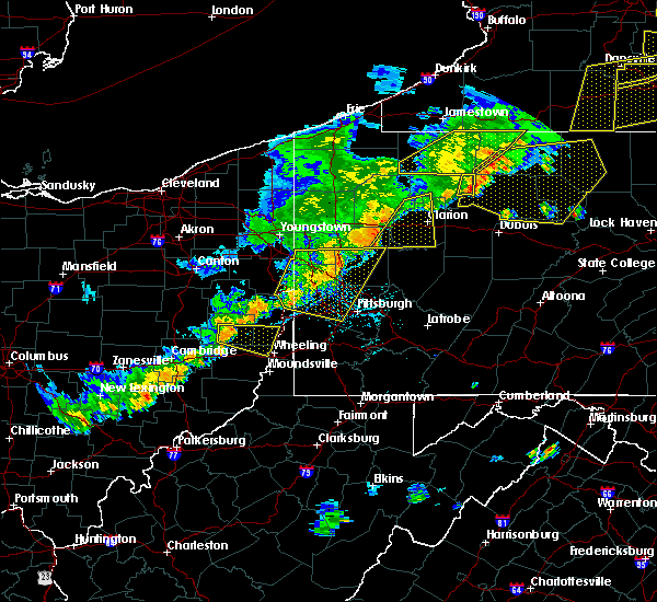 Radar Image for Severe Thunderstorms near Chicora, PA at 6/12/2015 5:50 PM EDT