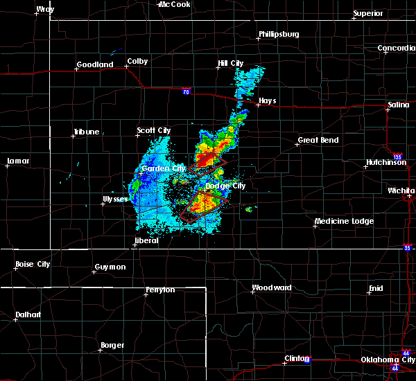 Radar Image for Severe Thunderstorms near Jetmore, KS at 5/17/2019 8:48 PM CDT