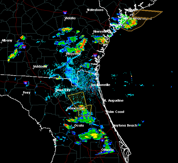 Radar Image for Severe Thunderstorms near Jesup, GA at 6/12/2015 5:58 PM EDT
