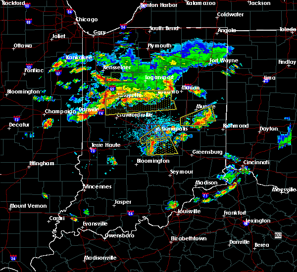 Radar Image for Severe Thunderstorms near Crawfordsville, IN at 6/12/2015 5:58 PM EDT