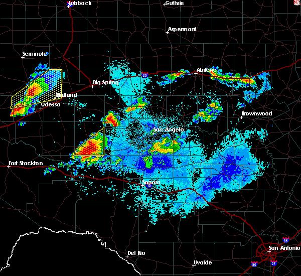 Radar Image for Severe Thunderstorms near Big Lake, TX at 5/18/2019 2:39 AM CDT