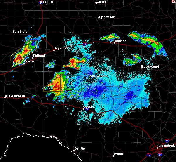 Radar Image for Severe Thunderstorms near Big Lake, TX at 5/18/2019 3:06 AM CDT