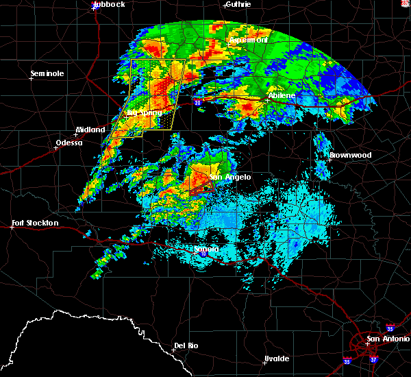 Radar Image for Severe Thunderstorms near Miles, TX at 5/18/2019 5:18 AM CDT