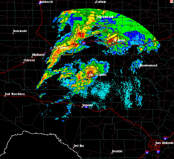 Radar Image for Severe Thunderstorms near Miles, TX at 5/18/2019 5:51 AM CDT