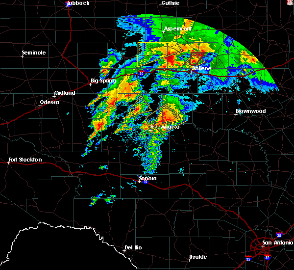 Radar Image for Severe Thunderstorms near Miles, TX at 5/18/2019 6:45 AM CDT