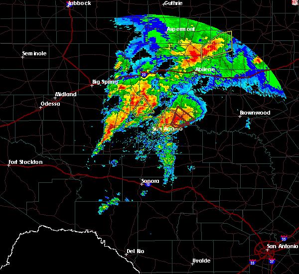 Radar Image for Severe Thunderstorms near Ballinger, TX at 5/18/2019 7:09 AM CDT