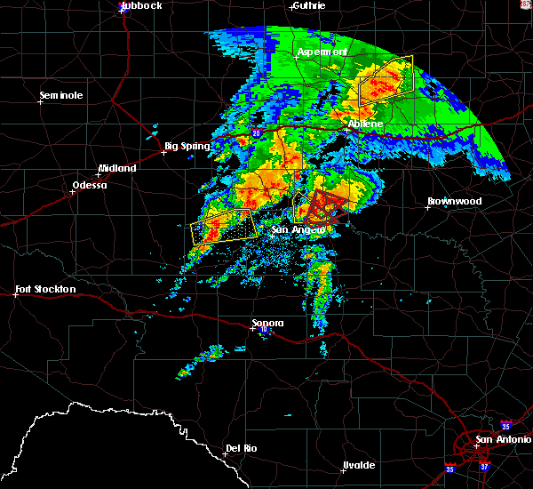 Radar Image for Severe Thunderstorms near Miles, TX at 5/18/2019 7:29 AM CDT