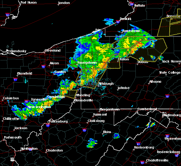 Radar Image for Severe Thunderstorms near Mount Pleasant, OH at 6/12/2015 5:57 PM EDT