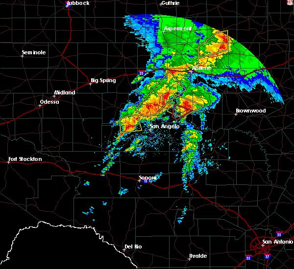 Radar Image for Severe Thunderstorms near Ballinger, TX at 5/18/2019 7:54 AM CDT