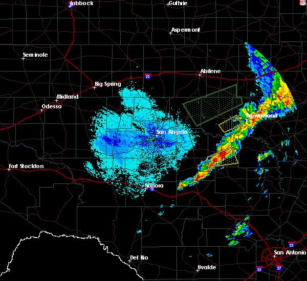 Radar Image for Severe Thunderstorms near Brady, TX at 5/18/2019 11:58 AM CDT