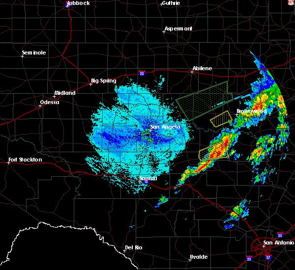 Radar Image for Severe Thunderstorms near Brady, TX at 5/18/2019 12:17 PM CDT
