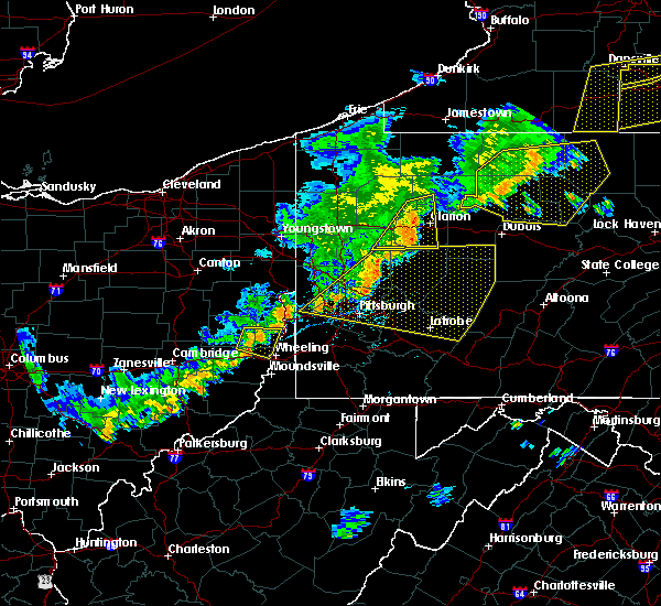 Radar Image for Severe Thunderstorms near New Bethlehem, PA at 6/12/2015 6:11 PM EDT
