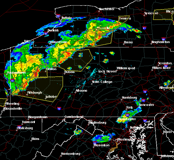 Radar Image for Severe Thunderstorms near Roulette, PA at 6/12/2015 6:12 PM EDT