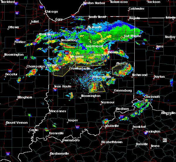 Radar Image for Severe Thunderstorms near Carthage, IN at 6/12/2015 6:15 PM EDT
