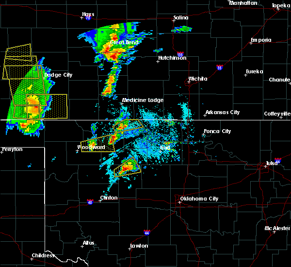 Radar Image for Severe Thunderstorms near Dacoma, OK at 5/18/2019 6:16 PM CDT